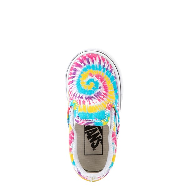 alternate view Vans Slip On Skate Shoe - Baby / Toddler - Tie DyeALT4B