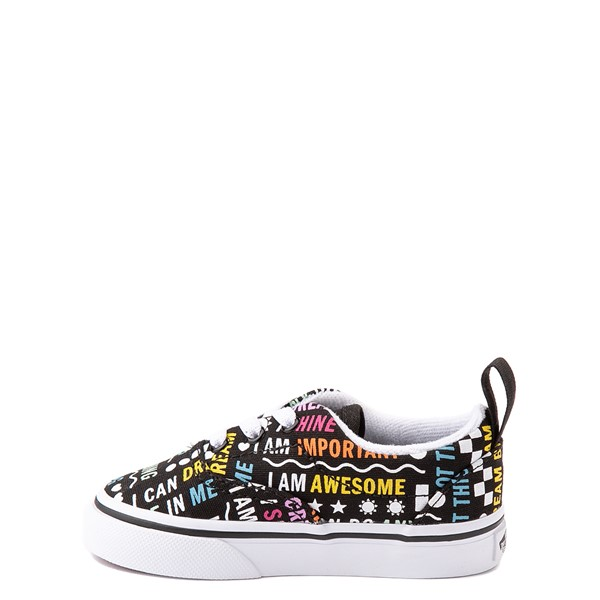 alternate view Vans Era Shine Bright Skate Shoe - Baby / Toddler - BlackALT1