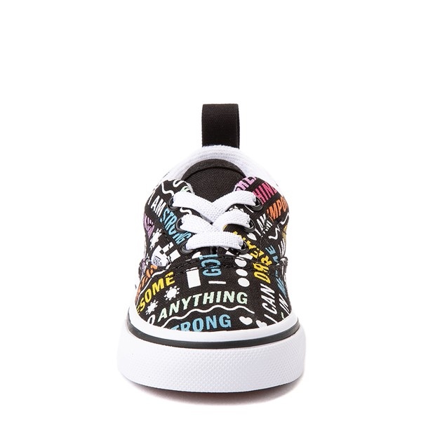 alternate view Vans Era Shine Bright Skate Shoe - Baby / Toddler - BlackALT4