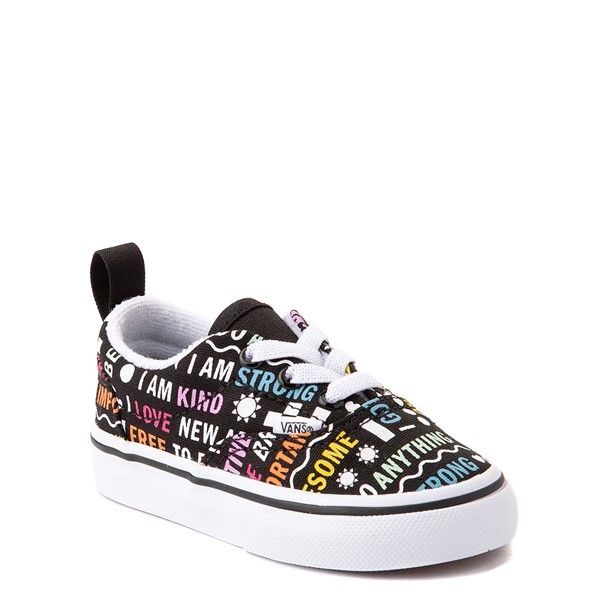 alternate view Vans Era Shine Bright Skate Shoe - Baby / Toddler - BlackALT5