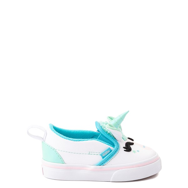 Main view of Vans Slip On V Disco Unicorn Skate Shoe - Baby / Toddler - White