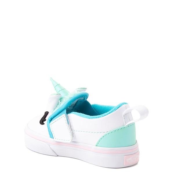 alternate view Vans Slip On V Disco Unicorn Skate Shoe - Baby / Toddler - WhiteALT1