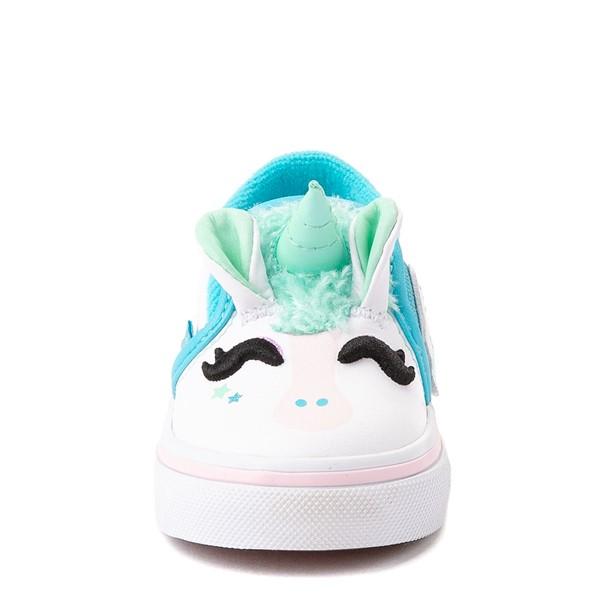 alternate view Vans Slip On V Disco Unicorn Skate Shoe - Baby / Toddler - WhiteALT4