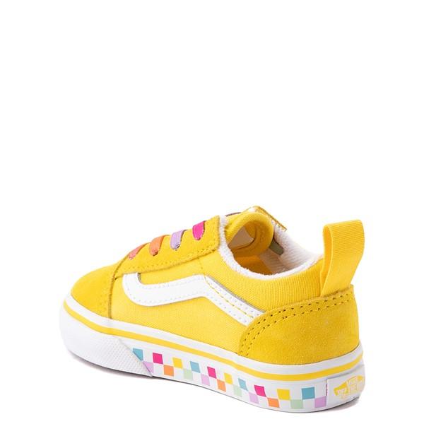 alternate view Vans Old Skool Skate Shoe - Baby / Toddler - Cyber Yellow / RainbowALT1