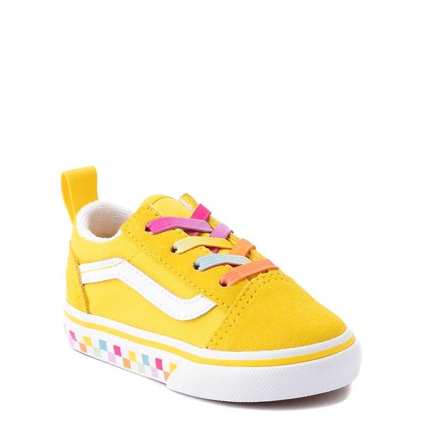 alternate view Vans Old Skool Skate Shoe - Baby / Toddler - Cyber Yellow / RainbowALT5
