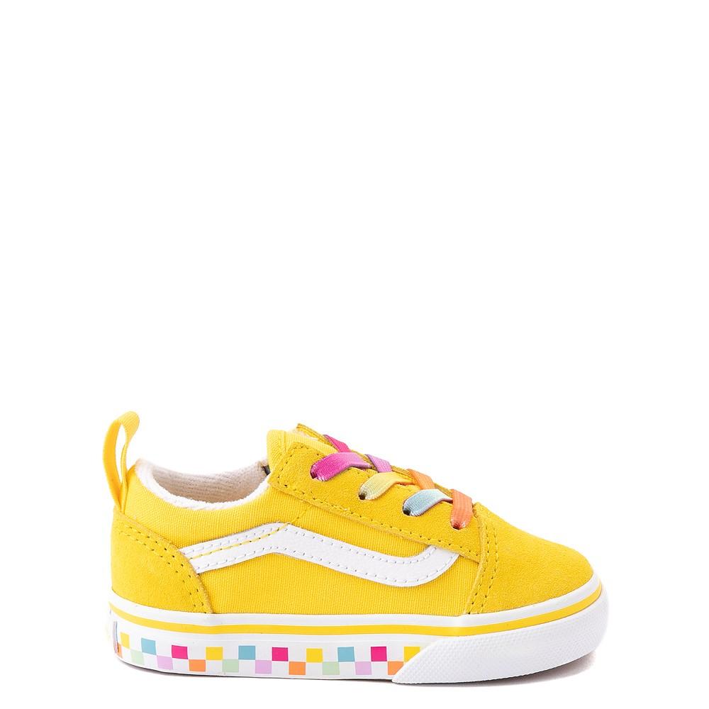 Vans Old Skool Skate Shoe - Baby / Toddler - Cyber Yellow / Rainbow