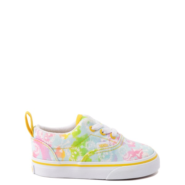 Main view of Vans Era Skate Shoe - Baby / Toddler - Tie Dye Skulls