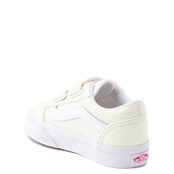 alternate view Vans Old Skool V Skate Shoe - Baby / Toddler - White / UV GlitterALT1B