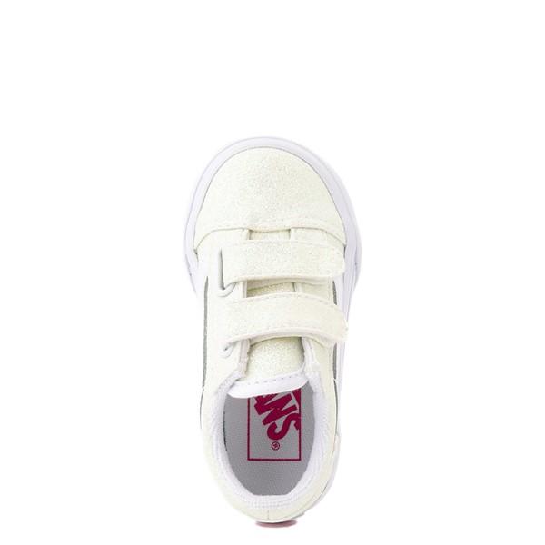 alternate view Vans Old Skool V Skate Shoe - Baby / Toddler - White / UV GlitterALT2