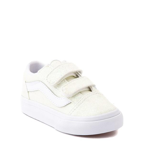 alternate view Vans Old Skool V Skate Shoe - Baby / Toddler - White / UV GlitterALT5