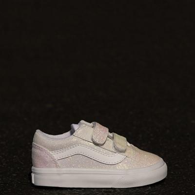 Alternate view of Vans Old Skool V Skate Shoe - Baby / Toddler - White / UV Glitter