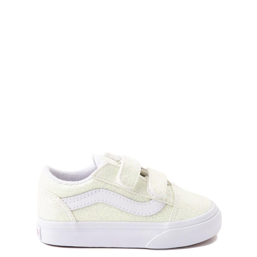 Vans Old Skool V Skate Shoe - Baby / Toddler - White / UV Glitter