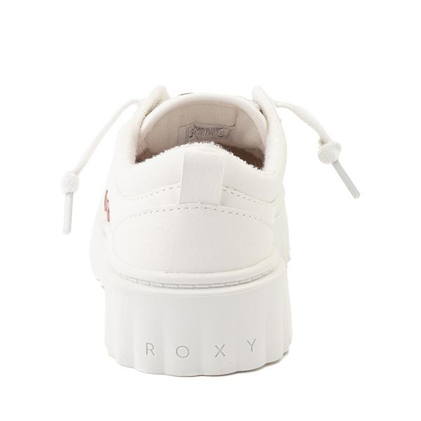 alternate view Roxy Sheilahh Platform Casual Shoe - Little Kid / Big Kid - WhiteALT4