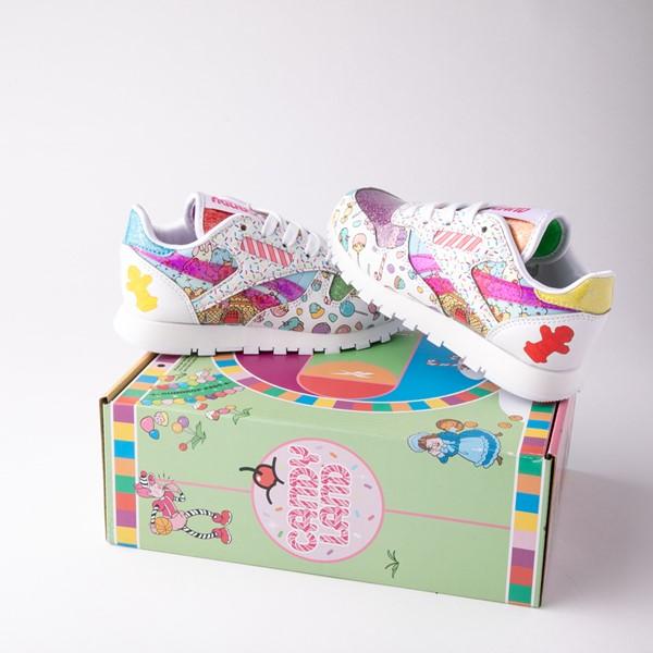 alternate view Reebok Candy Land Classic Athletic Shoe - Little Kid - White / Aubergine / Super GreenALT1B