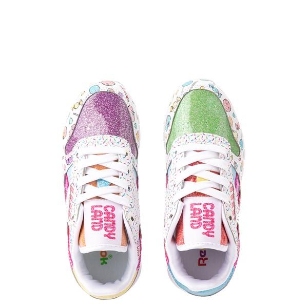 alternate view Reebok Candy Land Classic Athletic Shoe - Little Kid - White / Aubergine / Super GreenALT2