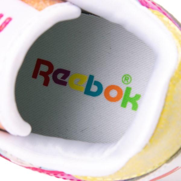 alternate view Reebok Candy Land Classic Athletic Shoe - Little Kid - White / Aubergine / Super GreenALT2B