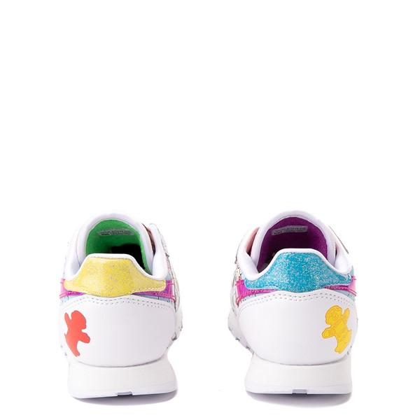 alternate view Reebok Candy Land Classic Athletic Shoe - Little Kid - White / Aubergine / Super GreenALT4
