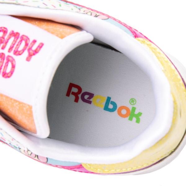 alternate view Reebok Candy Land Classic Athletic Shoe - Big Kid - White / Aubergine / Super GreenALT2B