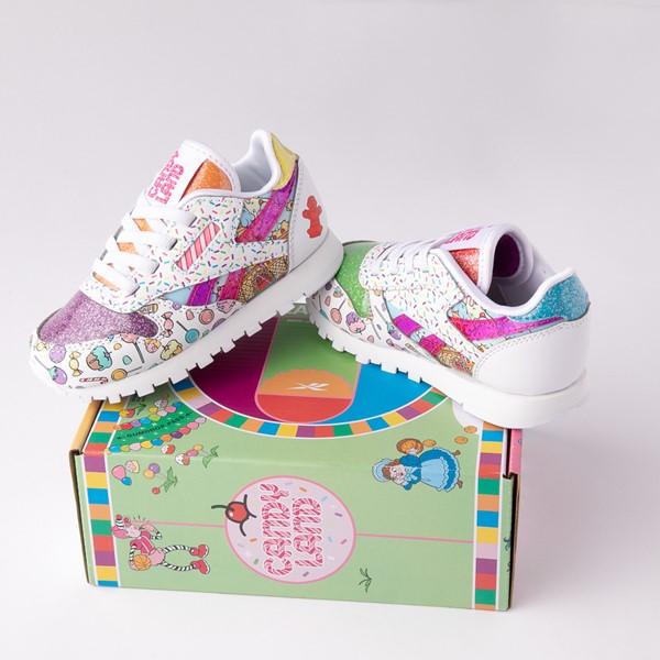 alternate view Reebok Candy Land Classic Athletic Shoe - Baby / Toddler - White / Aubergine / Super GreenALT1B