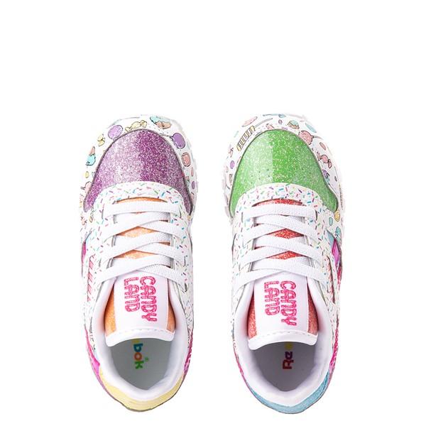 alternate view Reebok Candy Land Classic Athletic Shoe - Baby / Toddler - White / Aubergine / Super GreenALT2