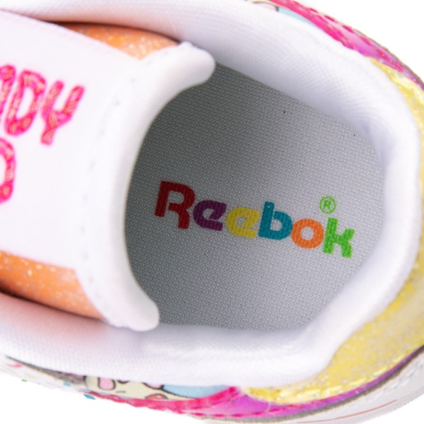 alternate view Reebok Candy Land Classic Athletic Shoe - Baby / Toddler - White / Aubergine / Super GreenALT2C