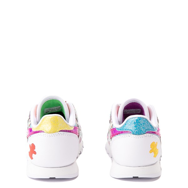 alternate view Reebok Candy Land Classic Athletic Shoe - Baby / Toddler - White / Aubergine / Super GreenALT4