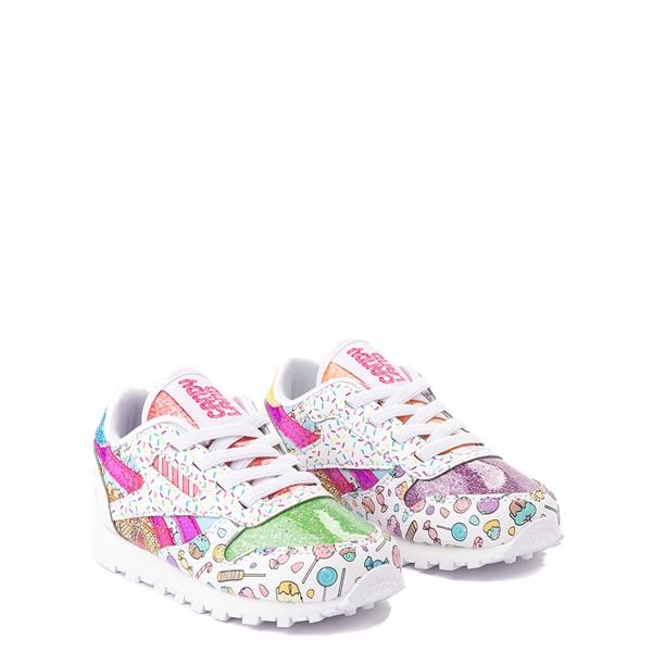 alternate view Reebok Candy Land Classic Athletic Shoe - Baby / Toddler - White / Aubergine / Super GreenALT5