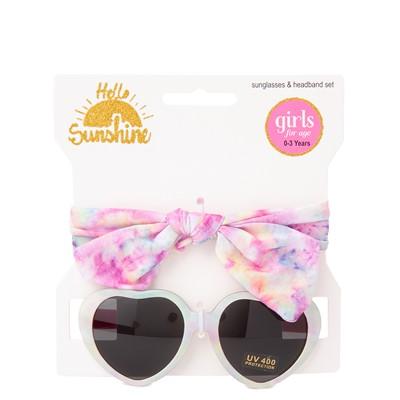 Alternate view of Heart Sunglasses and Headband Set - Pink