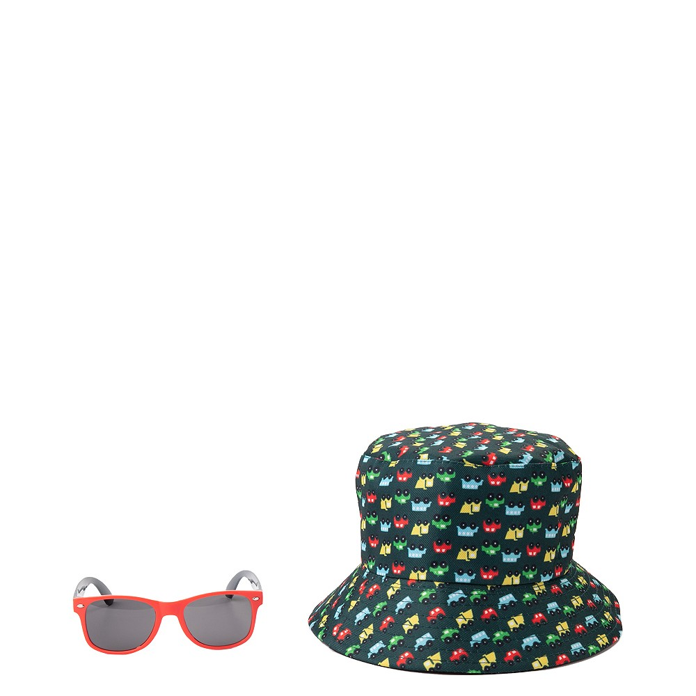 Bucket Hat and Sunglasses Set - Toddler - Black / Multicolor