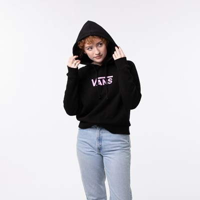 Alternate view of Womens Vans Flying V Boxy Hoodie - Black / Orchid