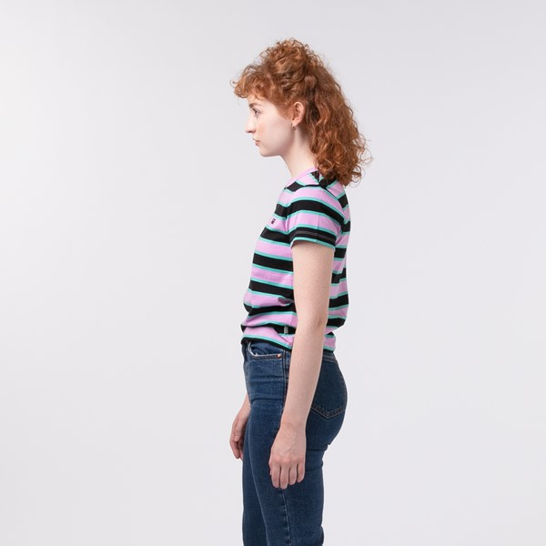 alternate view Womens Vans Big Stripe Baby Tee - BlackALT3