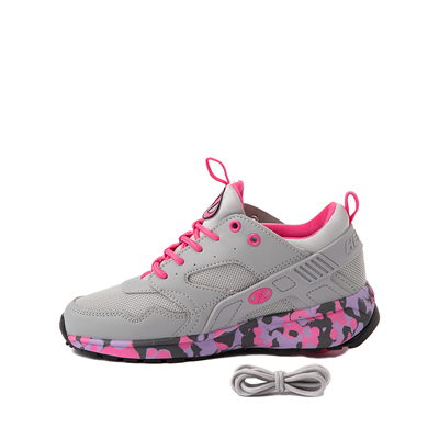 Alternate view of Heelys Force Skate Shoe - Little Kid / Big Kid - Gray / Pink