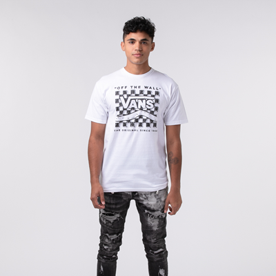 Alternate view of Mens Vans Etch-A-Check Tee - White