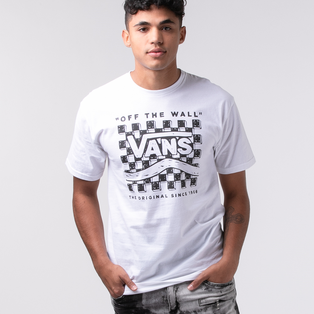 Mens Vans Etch-A-Check Tee - White
