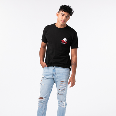 Alternate view of Mens Vans Rose Bed Tee - Black
