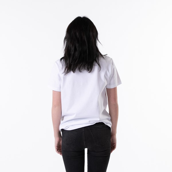 alternate view Womens Vans Vee Box Logo Boyfriend Tee - White / Tie DyeALT1