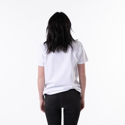 Alternate view of Womens Vans Vee Box Logo Boyfriend Tee - White / Tie Dye