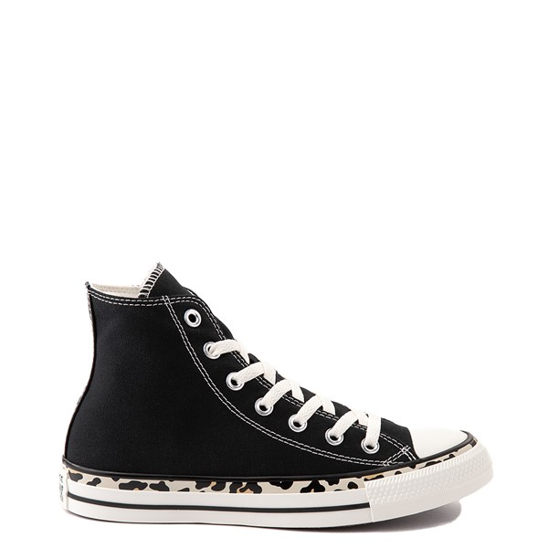 Main view of Womens Converse Chuck Taylor All Star Hi Archive Print Sneaker - Black / Leopard