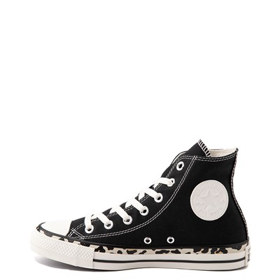 Alternate view of Womens Converse Chuck Taylor All Star Hi Archive Print Sneaker - Black / Leopard