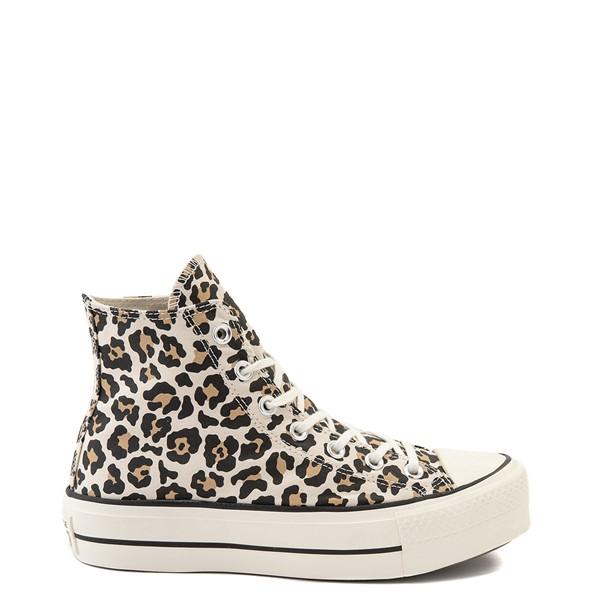 Main view of Womens Converse Chuck Taylor All Star Hi Platform Sneaker - Leopard