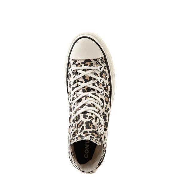 alternate view Womens Converse Chuck Taylor All Star Hi Platform Sneaker - LeopardALT2