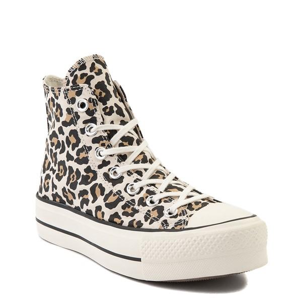 alternate view Womens Converse Chuck Taylor All Star Hi Platform Sneaker - LeopardALT5
