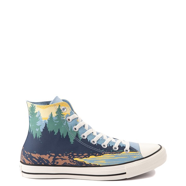 Main view of Converse Chuck Taylor All Star Hi National Parks Sneaker - Sea Salt Blue / Banana Cake