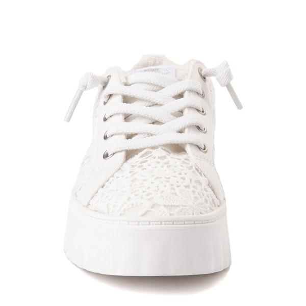 alternate view Womens Roxy Sheilahh Crochet Platform Casual Shoe - WhiteALT4