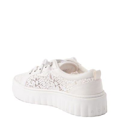 Alternate view of Womens Roxy Sheilahh Crochet Platform Casual Shoe - White