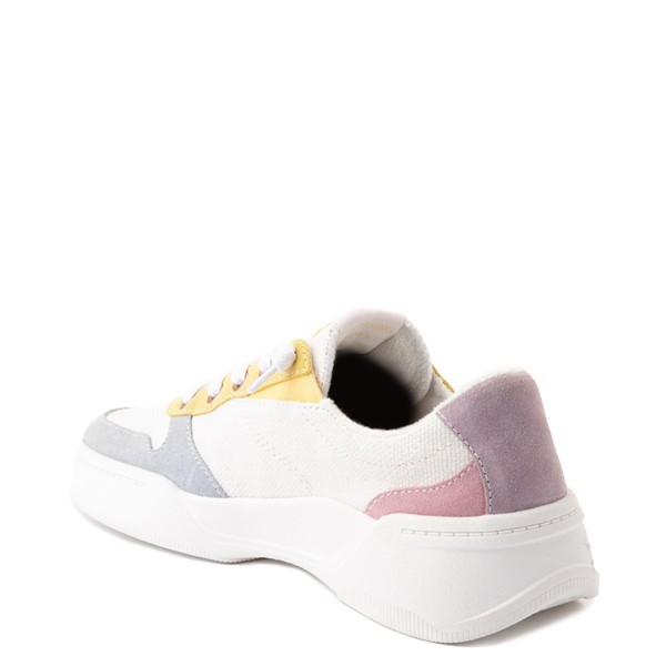 alternate view Womens Roxy Harper Slip On Casual Shoe - White / MulticolorALT1