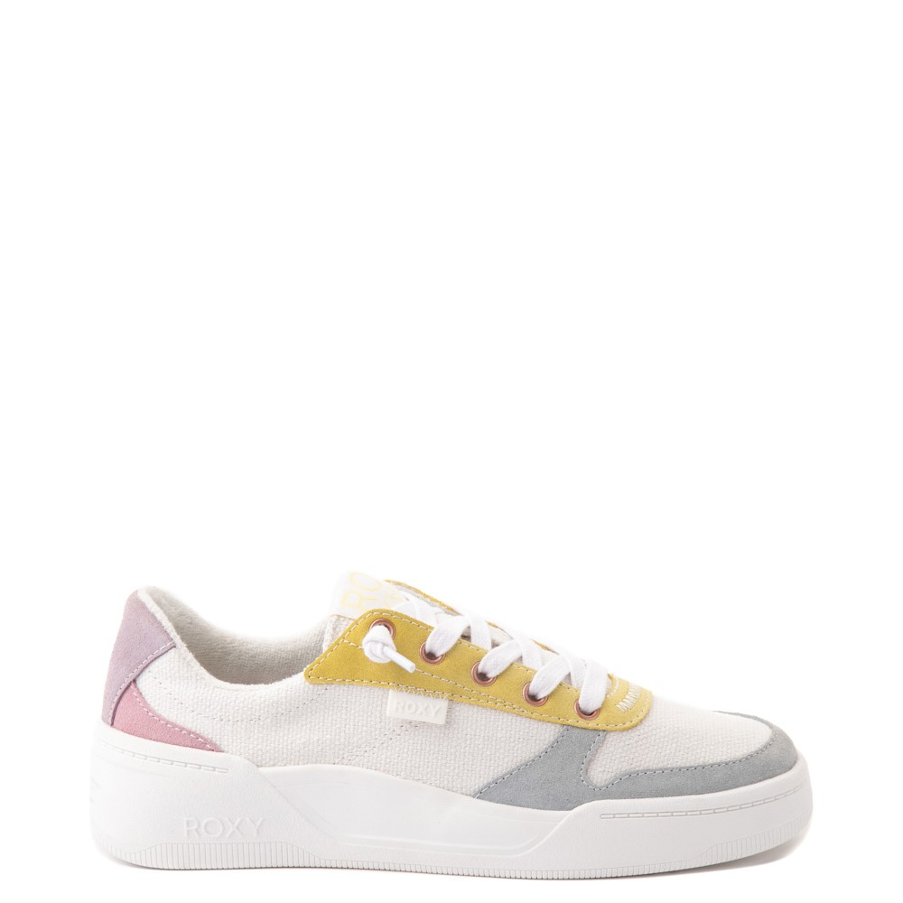 Womens Roxy Harper Slip On Casual Shoe - White / Multicolor