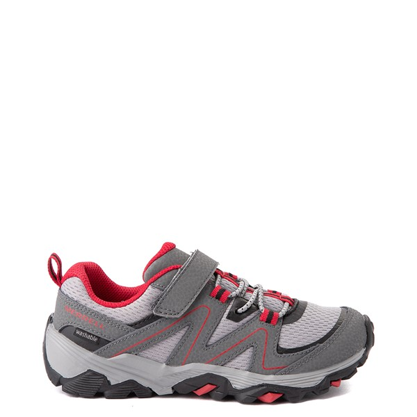 Main view of Merrell Trail Quest Athletic Shoe - Little Kid / Big Kid - Gray / Red