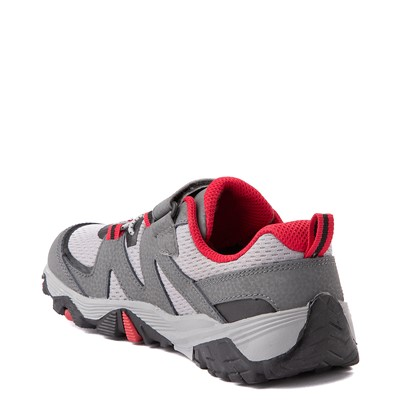 Alternate view of Merrell Trail Quest Athletic Shoe - Little Kid / Big Kid - Gray / Red