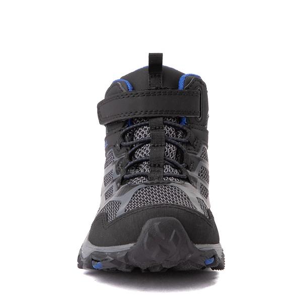alternate view Merrell Moab FST Mid A/C Hiker Boot - Little Kid / Big Kid - Black / RockALT4